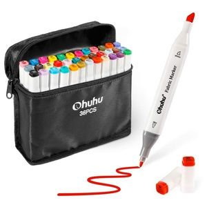 Ohuhu 36pc. Double-Tipped Fabric Markers